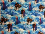 FROZEN BLUE ELSA ANNA KRISTOFF OLAF - Fabric 100% Cotton - Price Per Metre